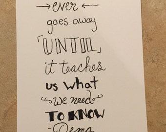 Life lesson print etsy