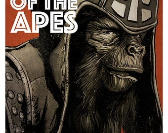 Planet of The Apes movie poster full colour art print