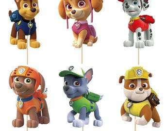 24 pieces Paw Patrol Cake/Cupcake toppers New
