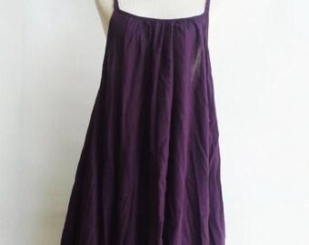 ON SALE 30% off, D10, Swan Purple Cotton Dress, violet sundress