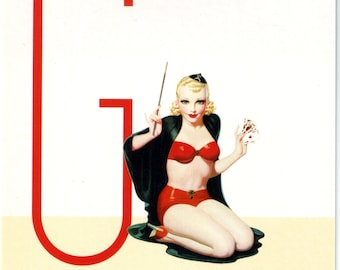 G is for Games Pin-Up Girl Poster