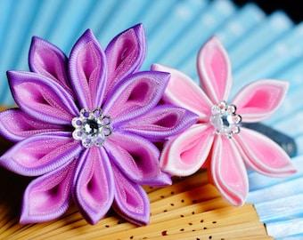 Sparkling Kanzashi hair clip