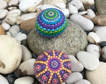 Set of 2 - Mandala Rocks