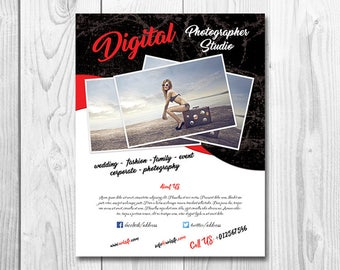 Photography Flyer Template, Photographer flyer template Photographer Template - Photography Template