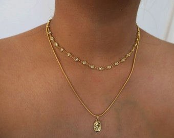 Mami Diamond choker - gold plated - diamond necklace - gifts for her - necklace jewellery