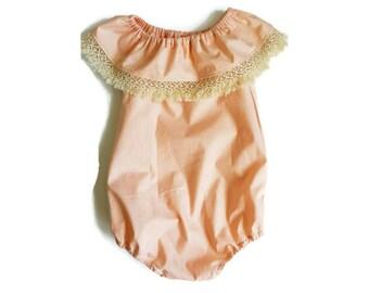Olive Boho Romper - Girl, Newborn, Baby, Toddler, Romper, Playsuit, Fringe, Bohemian