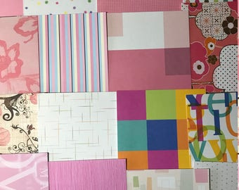 Pretty in Pink Bits & Bobs Collage Scrapbook Junk Journal Paper Assortment