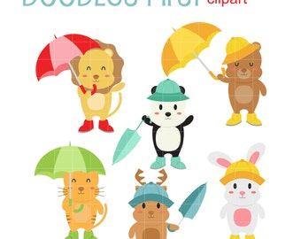 rainy day clipart etsy rh etsy com rain clipart rain clipart black and white