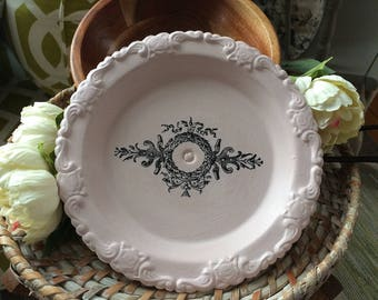 Painted Silver Dish - Chalk Painted Silver - Chalk Painted Silver Dish
