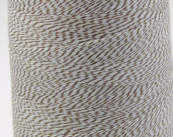Light Brown and White 3 ply Bakers Twine Cocoa Twine Milk Chocolate Twine Colorful Twine