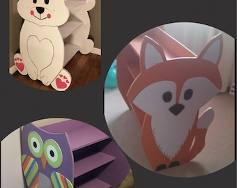 Children's Bookcase's , Fox, Owl, Polar Bear or anything else that you can imagine.