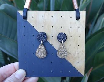 Black earrings, statement earrings, dangle earrings, drop earrings, sparkle earrings, glitter earrings, best friend gift, teachers gift