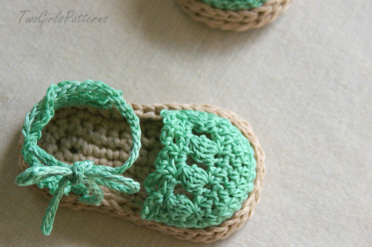 Crochet pattern 119 baby girl espadrille sandals zoom bankloansurffo Image collections