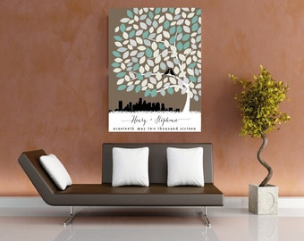 Personalised Wedding Guestbook Tree Keepsake PRINTABLE - Beverley Design