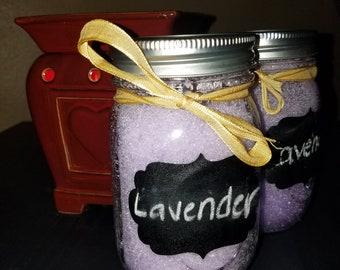 Lavender scented body scrub