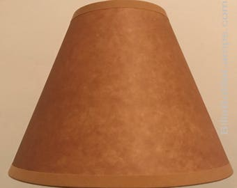 Classic LAMP SHADE Rustic Cottage Table Light Lamp Shade Faux Oil Kraft Clip On  Bulb