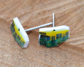 Melbourne Tram Earrings- tiny and quirky