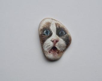 Scaredy Cat Too Worry Stone