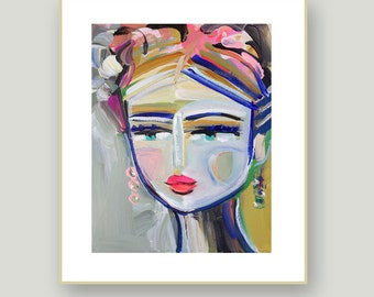 Abstract Portrait PRINT,  medium, woman portrait, Abstract Girl