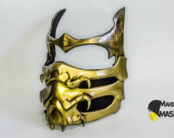 Mortal kombat Scorpion mask for Cosplay | Color LEDs | Different sizes | Different color