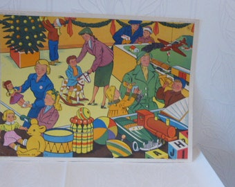 School poster Editions Rossignol Montmorillon Vienna, fire and in a toy store 1960