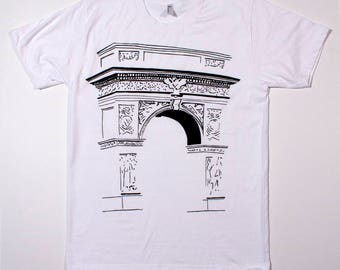 Shadow of Arch on white shirt