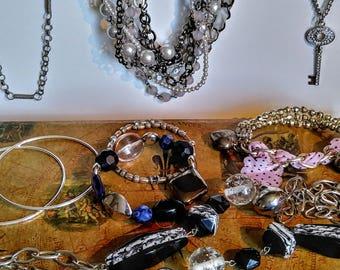 Jewelry lot vintage jewelry lot of jewelry mixed jewelry lot jewelry making jewelry supplies Rhinestones