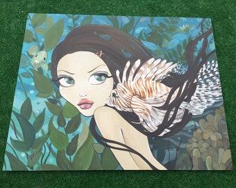 "Lionfish Big Eye Art / pop surrealism / lowbrow art / lionfish art - 16"" x 20"""
