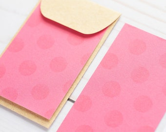 Pretty Pink Mini Cards // Gift Card Holder // Business Card Envelope // Enclosure Card // Promotional Card // Love Note // Blank Card