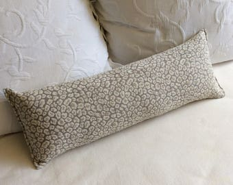 Oyster chenille 9x18-20-22-24 Bolster/lumbar/toss/throw pillow available in many of our fabrics
