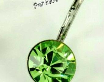 PERIDOT CRYSTALIZED Swarovski element earrings