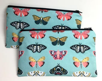 Pencil Case Zip Pouch - Butterflies
