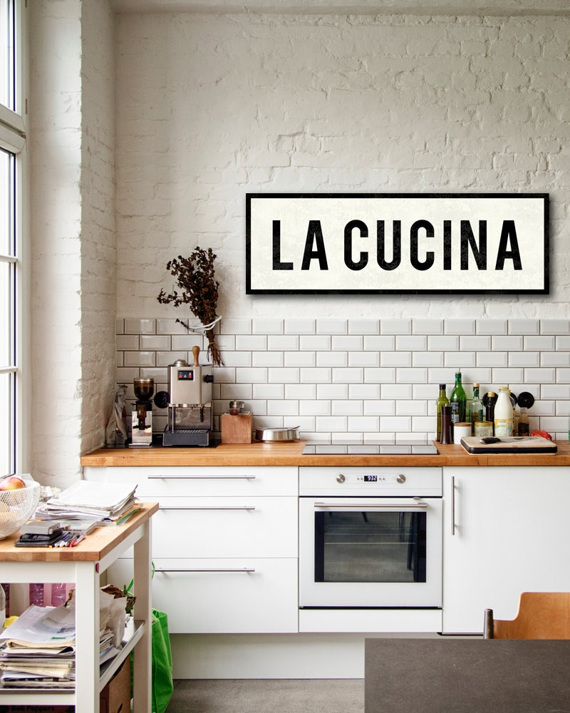 LA CUCINA SIGN Kitchen Sign Italian Kitchen Decor Tuscan