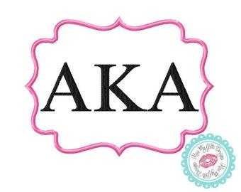 Alpha Kappa Alpha Greek Sorority Machine Embroidery Applique Design