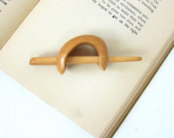 vintage Hair Slide Barrette clip Minimal Chic Wood Pony Tail Holder Wooden Ponytail Clip Hipster Hair Stick barrette Boho Jewelry