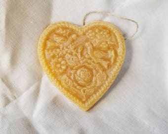Two Turtle Doves Beeswax Ornament