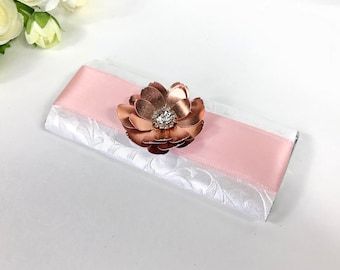 Chocolate bar favors, custom chocolate bar wrappers, Candy bar wrappers, gold rose baptism favors, pink chocolate bar wrappers