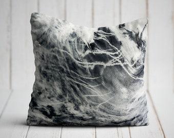 Gray White Throw Pillow | Gray Pillow | Gray Decorative Pillow | Throw Pillow Cover
