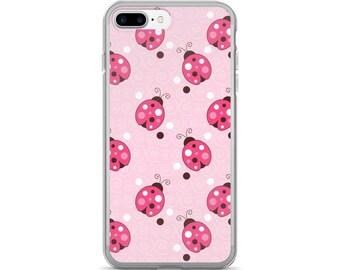 Pink Trendy Ladybug iPhone 7/7 Plus Case Ladybugs Pattern