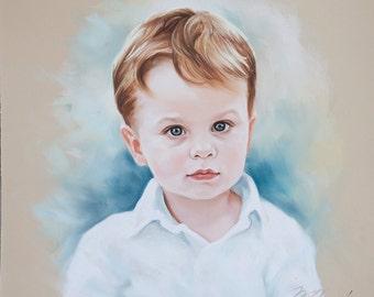 Children pastel portraits