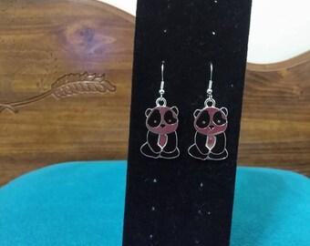 cute panda bear earrings    panda bracelet earrings charm