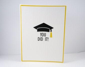 Graduation Card, You Did It!, Congratulations, Congrats grad, class of 2018, card for graduate, high school, college, kindergarten