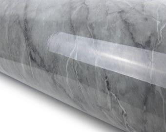Deep Grey Marble 2m Granite Effect Interior Film Self Adhesive Counter Top Peel-Stick Wallpaper VBS705-2G
