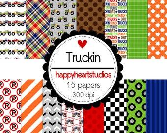 Digital Scrapbooking Truckin-INSTANT DOWNLOAD