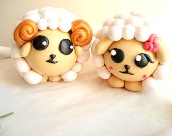 Sheep Wedding Cake Topper Mr and Mrs Bride and Groom Wedding Cake Decoration Sheep Cake Topper Wedding Anniversary Keepsake