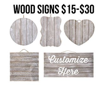 Home Decor - Wood Signs - Custom Any Quote