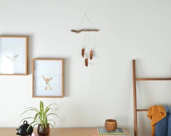 Wood Feather Wall Hanging - Driftwood Wall Art - handmade wood home decor