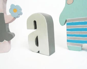 Initial wooden letter for children's bedroom