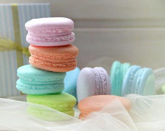 Set of 6 French Macaroon Soaps Mini Macaroon Soaps Dessert soap Mother day soap Wedding favors Paris Bridal Shower favors Guest soap