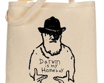 Science Shoulder Bag for Biology Majors, Charles Darwin Tote Bag Student Gift, Biology Student Graduation Gift, Science Teacher Gift